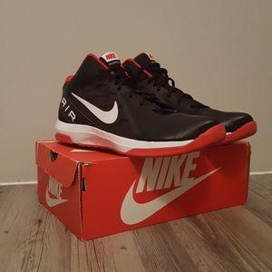 NWOB Nike Air Black/Red/White Overplay IX